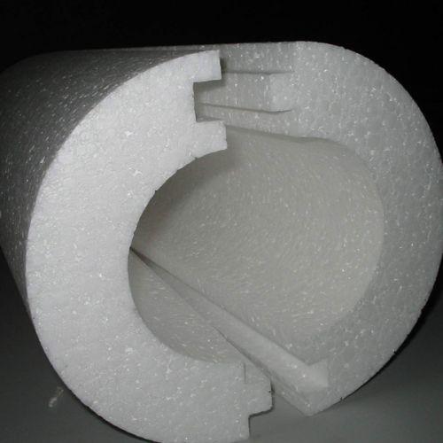 Теплоизоляционная оболочка для труб - скорлупа из пенополистирола
