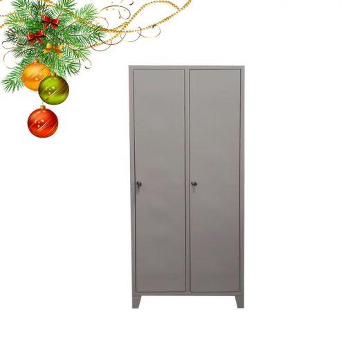 Двухсекционный металлический шкаф