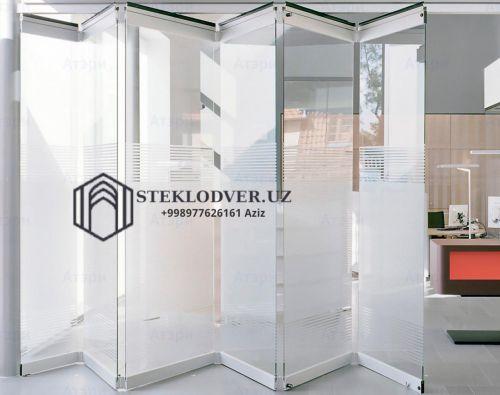 Стеклянные раздвижные двери из закаленного стекла на заказ